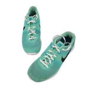 NIKE Flex Fury Womens Size 7 Mint Green Blue Athletic Sneakers 705299-300 Shoes